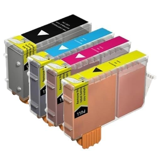 Canon BCI3 BCI3E Inks Cartridge Compatible Bk+C+M+Y Full Set